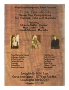 West Coast Composers' Forum Presents    From the Woods