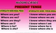 Noun cases present tense | Interrogative words | Speak well spoken English