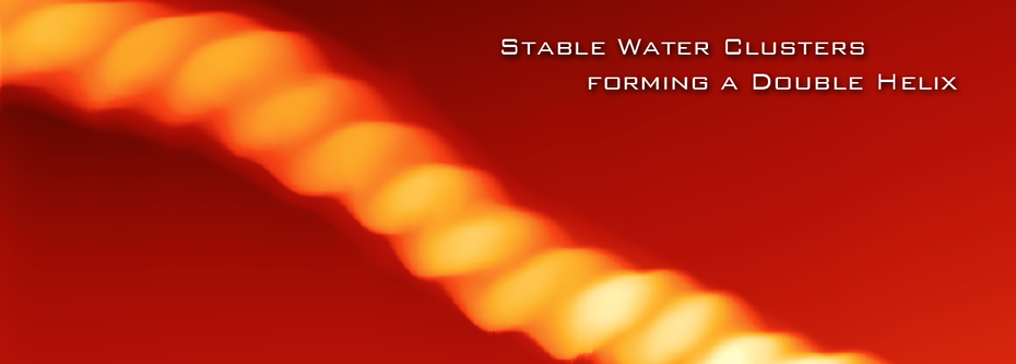 Stable Water Cluster Double Helix Shape