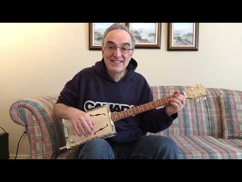 Joe Caruso Guitars - Liona - 4 string Cigar Box Guitar