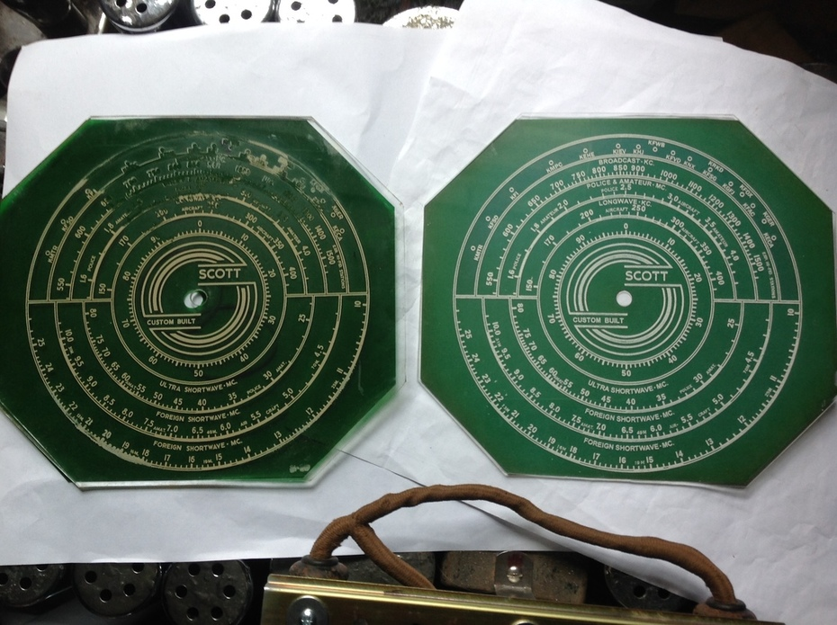 Laser engraved dial