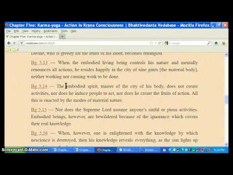 Fundamentals of Bhagavad-gita, Chapter 5 Overview