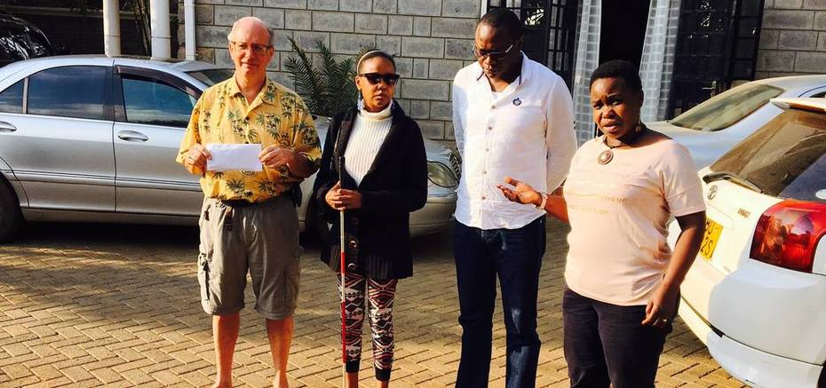 Supporting the blind in Kenya