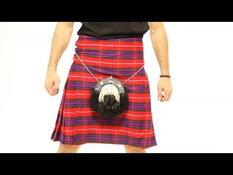 FRASER TARTAN KILT WITH SPORRAN - New Arrival 2018