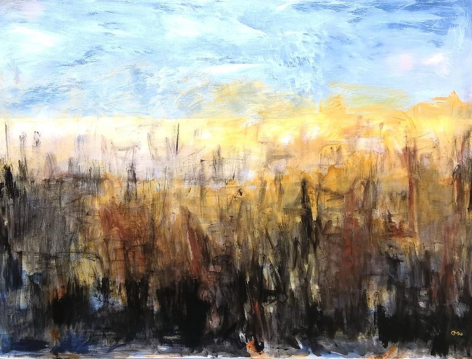 12. POLDER IMPRESSION 6 , 90 x 120 cm. Acryl auf Canvas