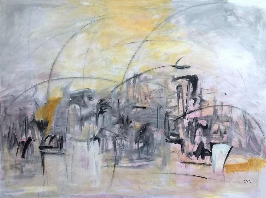 16. SCHILFROHR IN DE POLDER 7, 90 x 120 cm. Acryl auf Canvas