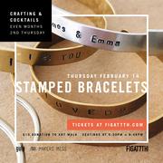 Crafting & Cocktails - Stamped Bracelets