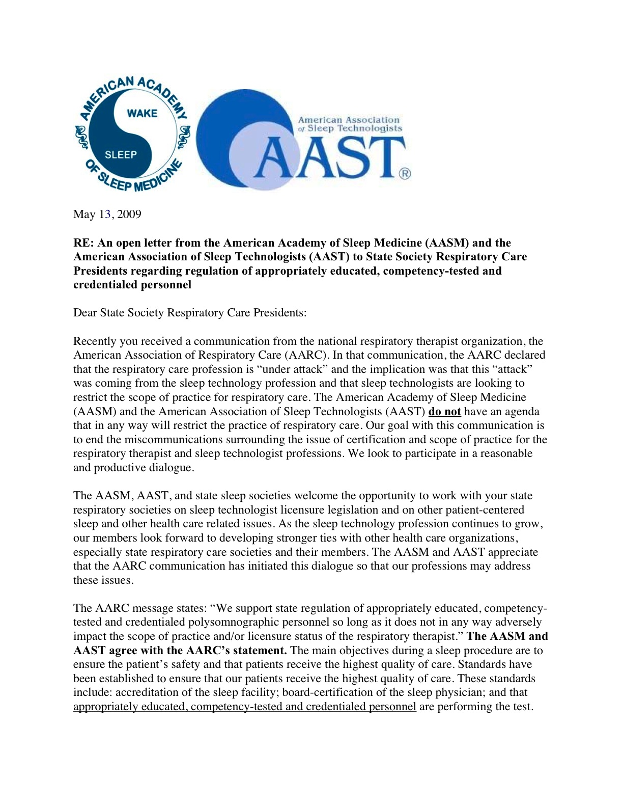 sending a letter to someone aasm and aast send open letter to state respiratory care 20866 | 103103768?profile=original