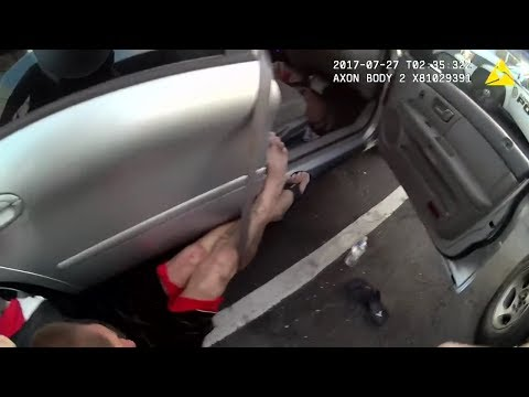 Arrest And Tasering Of Johnny Wheatcroft By Glendale Police | Body Cam | United States | 20170726