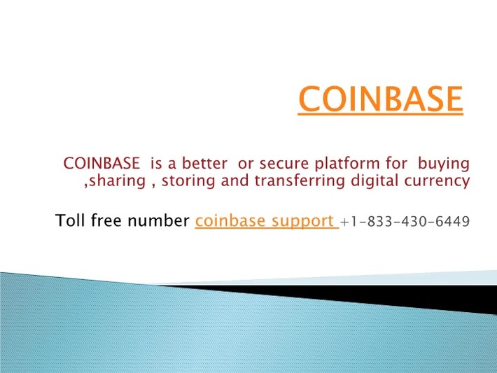 Coinbase Support Number 【1-833-430-6449】Phone Number