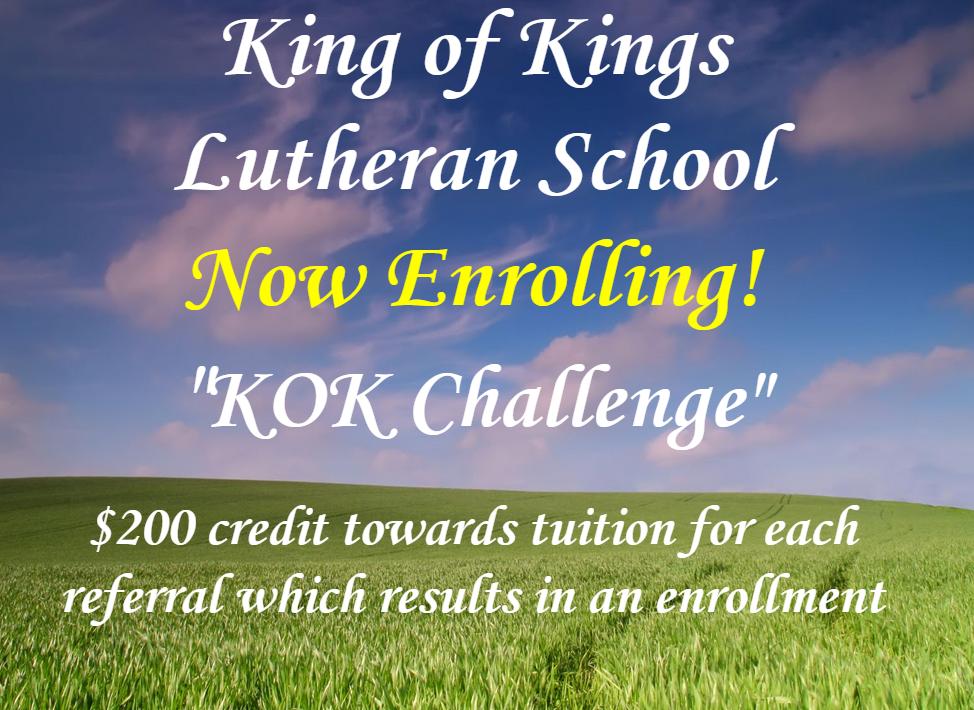 School Home - King of Kings Lutheran Church & School