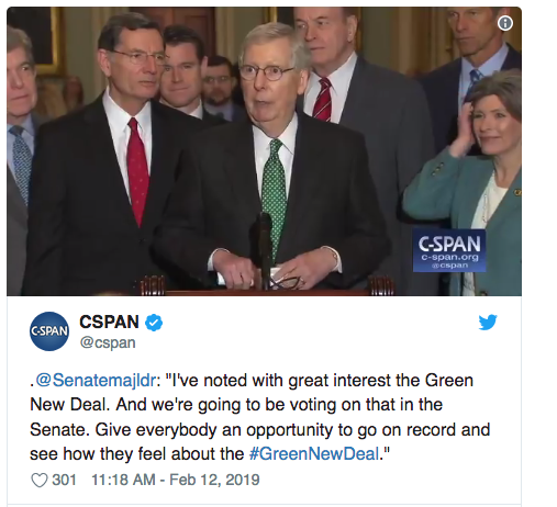 Mitch McConell trolls Occasional-Cortex and the Demoncrats on the