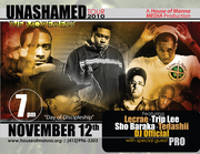 """House of Manna Media presents DAY OF DISCIPLESHIP featuring UNASHAMED TOUR 2010 """"The Movement"""""""