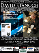 """""""Improve Your Groove Drum Clinic"""" with special guest David Stanoch"""