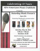 AAMI Saturday Music Forum - Open Mic
