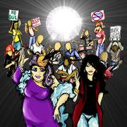 Phat Man Dee and Liz Berlin: Shine the Light woth Social Justice Disco!