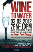 Wine to Water | Wine Tasting at Oak Cliff Cultural Arts