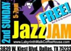 2nd Sunday Jazz Jam - musicians & fans welcomed