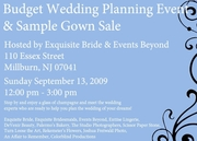 Budget Friendly Wedding Planning Event & Sample Gown Sale