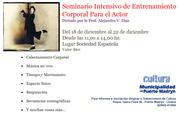 SEMINARIO INTENSIVO DE ENTRENAMIENTO CORPORAL PARA ACTORES