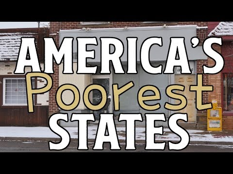 The 10 POOREST STATES in AMERICA