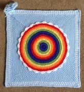 "16"" Rainbow Mandala Square"