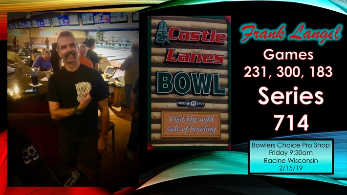 Racine Wisconsin Bowlers Roll Honor Scores  - Bowling