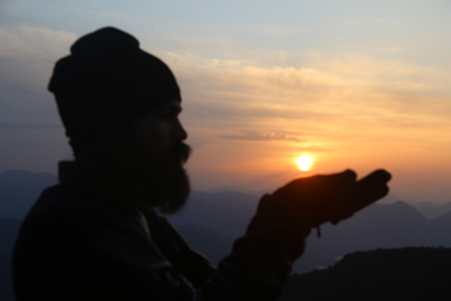 Sunrise point in Rishikesh India