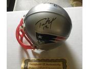 Tom Brady signed Patriots mini helmet