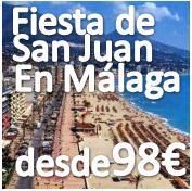 ****ULTIMOS DIAS PARA RESERVAR****    San Juan en Málaga con Singles de toda España :: Fin de Semana desde 98€ en Hotel 4* en 1ª Linea de Playa en  Media Pensión