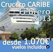 Crucero :: Caribe :: 8 dias :: Vuelos incluidos desde 1.070€ :: Febrero 2013 :: Varias fechas