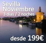 Sevilla Fin de Semana Single en Noviembre