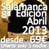 NOVEDAD :: Encuentro de Singles en Salamanca :: (OPCION SOLO 1 NOCHE DE HOTEL CON CENA, FIESTA Y BARRA LIBRE DESDE 69€)