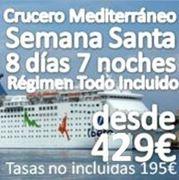 Semana Santa 2015 :: Crucero Mediterraneo :: 8 Días 7 noches
