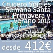 Cruceros Singles ::  Mediterráneo  ::  Barco Sovereing  ::  8 Días 7 noches :: Varias fechas 2015