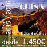 Pekín y Shanghai: Fin de año en China: 8 días 6 noches desde 1.450€