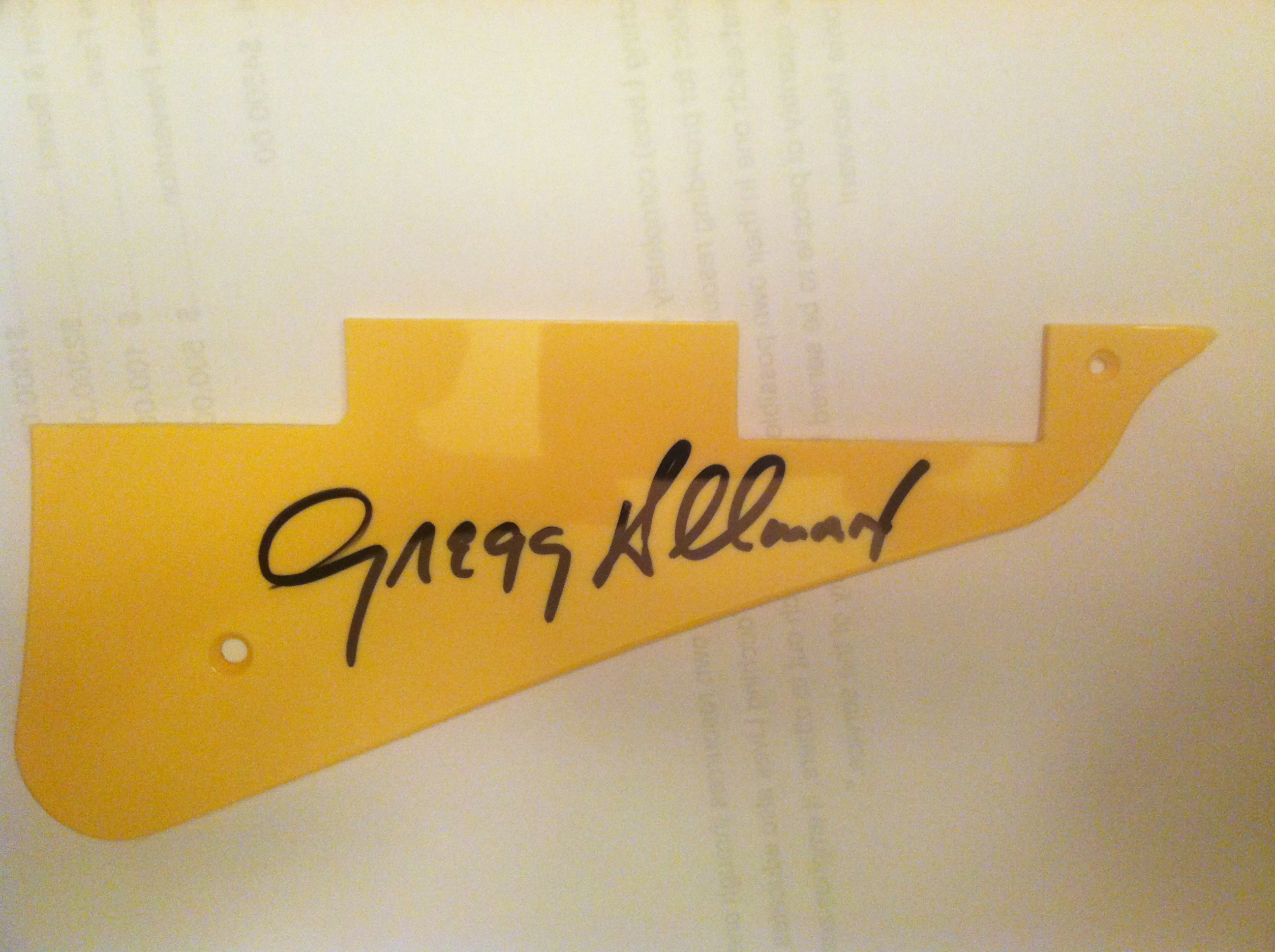 Gregg Allman Signed Pickguard Authentic Autograph Live