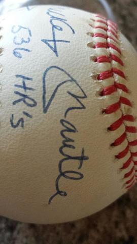 Live Baseball Auto Mantel Mickey Autograph JT1lKcF