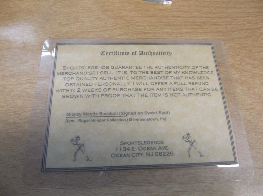 Ebay Seller Arodcollector Sells Forged Mickey Mantle Baseball