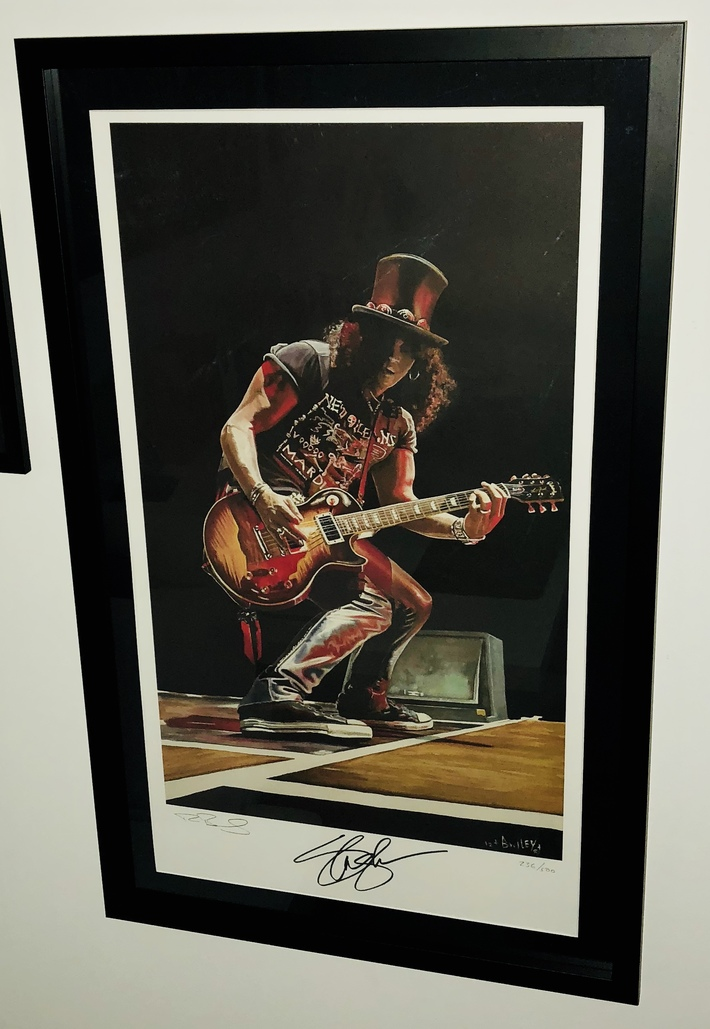 Slash / Guns N Roses lithograph