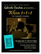 When 1+1=1 Interactive Book & Tango Event