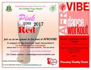 Mu Lambda Omega Chapter Hosts 5th Annual Pink Goes Red Event