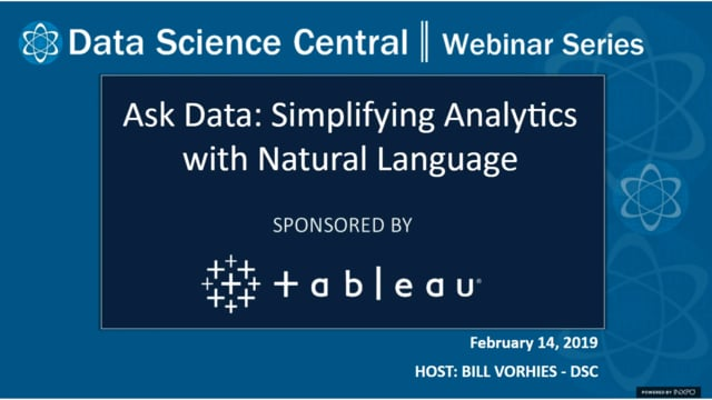 DSC Webinar Series: Ask Data: Simplifying Analytics with Natural Language