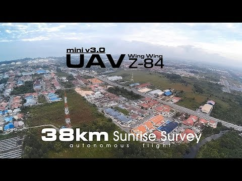 38km Sunrise Survey - UAV Wing Wing Z-84 V3.0