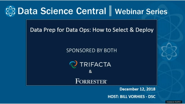 DSC Webinar Series: Data Prep for Data Ops: How to Select & Deploy