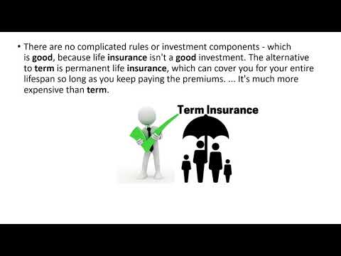 Why term insurance is best