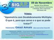 III SIGAP -  GEADEL - GRUPO APOMETRICO DESPERTAR DE LUZ