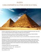 Egito Magnificado-Inscreva se para Evento Explicativo através do formulário que encontra se no link abaixo.Confira a programação desta fantástica Viagem!