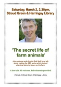 Talk: The Secret Life of Farm Animals by Rob Neill and Richard Hughes at Stroud Green and Harringay Library