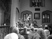 Johnny O Hallaron and Emma O Sullivan at Tunes in the Church